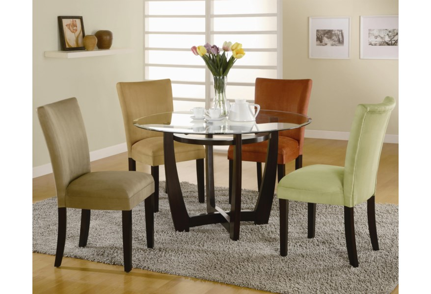 Coaster Bloomfield Round Cross Table Base with Beveled Glass ...