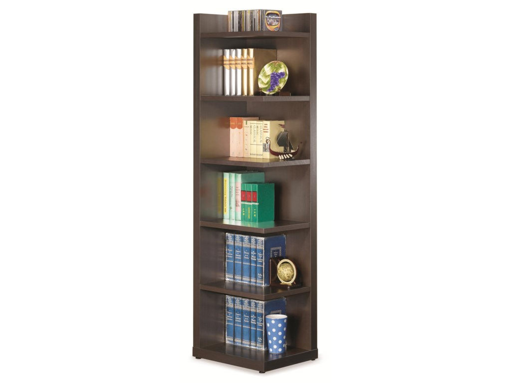 Bookcases Corner Bookcase With Open Side By Coaster