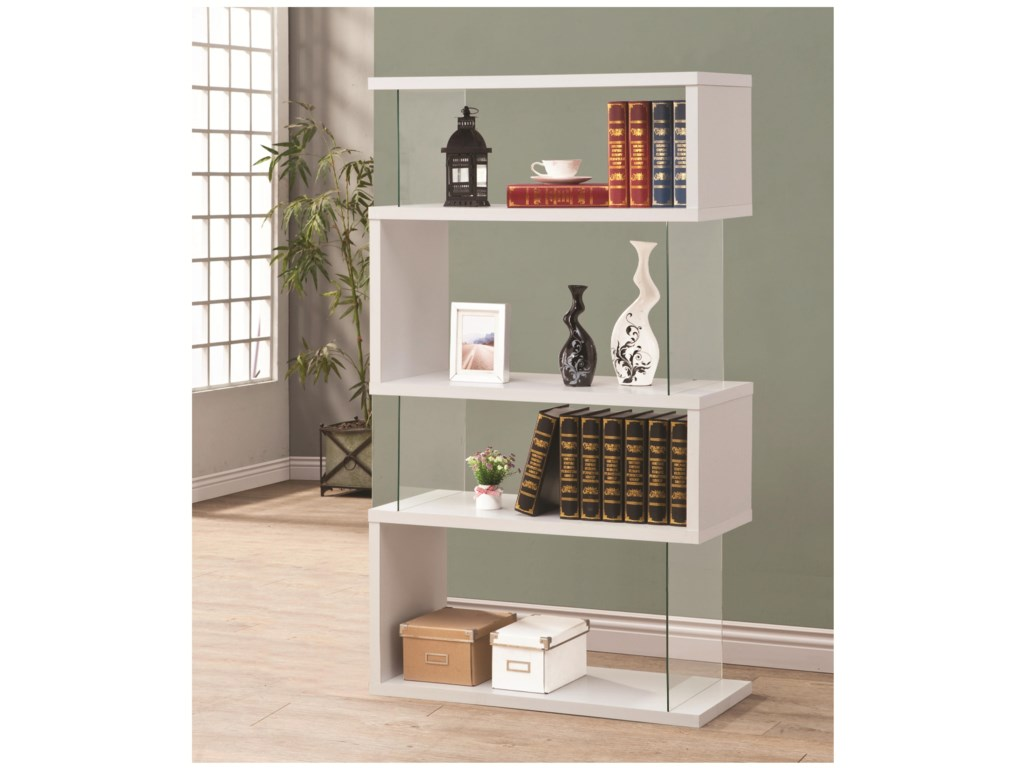 guthriebookcase coaster width threshold height open dunk wood bookcase small item and metal guthrie products trim