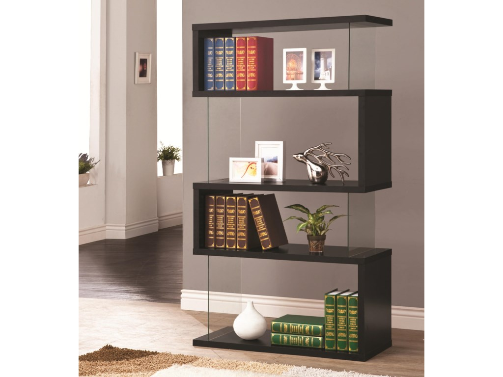 bookcase weathered coaster grey item number semi products bookcases backless
