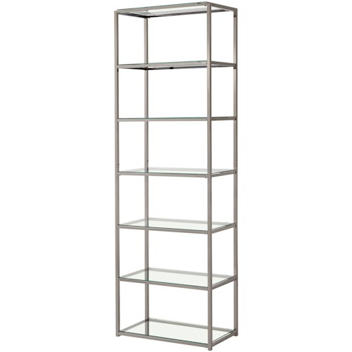 Coaster Bookcases Contemporary Metal Bookcase with Glass Shelves
