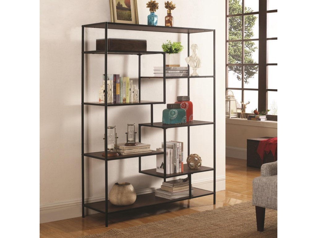 dunk threshold width bookcase coaster item height trim asymmetrical by bookshelf bookcases snaking products
