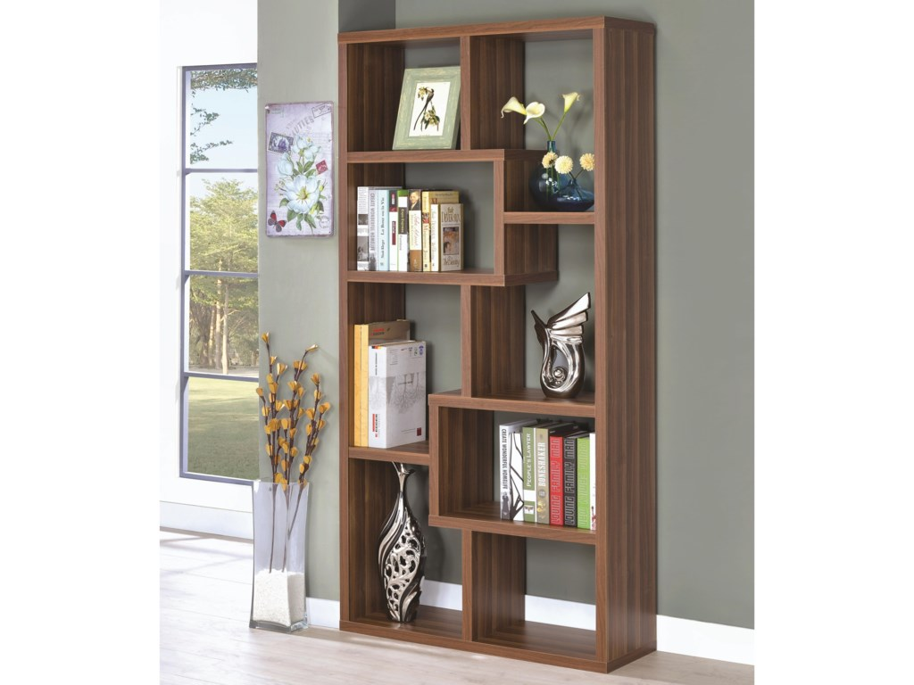 bcb briana collections storage bookshelf contemporary bed king bookcase coaster furniture fine item with