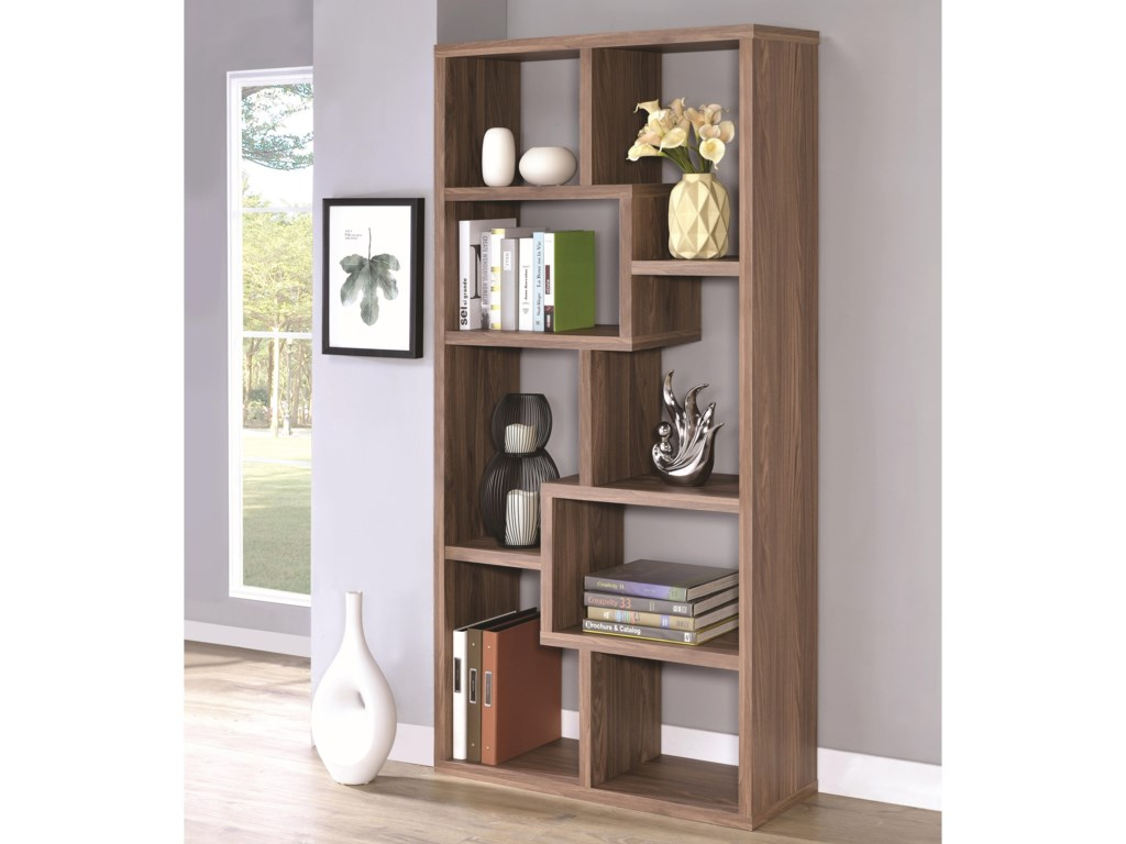 furniture bookcase bookcases bookshelf narrow fine coaster stores