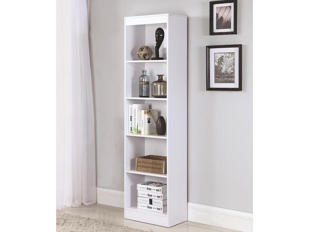 Coaster Bookcases5 Shelf Narrow Bookcase