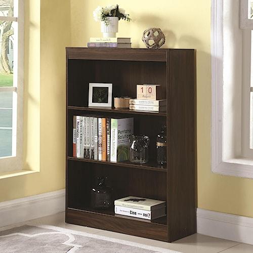Coaster Bookcases 3 Shelf Transitional Bookcase