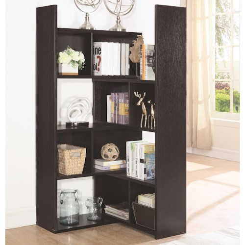 Coaster Bookcases Transitional Bookcase with Rotating Shelf