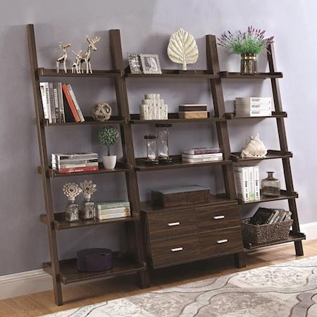 Ladder Bookcase Set