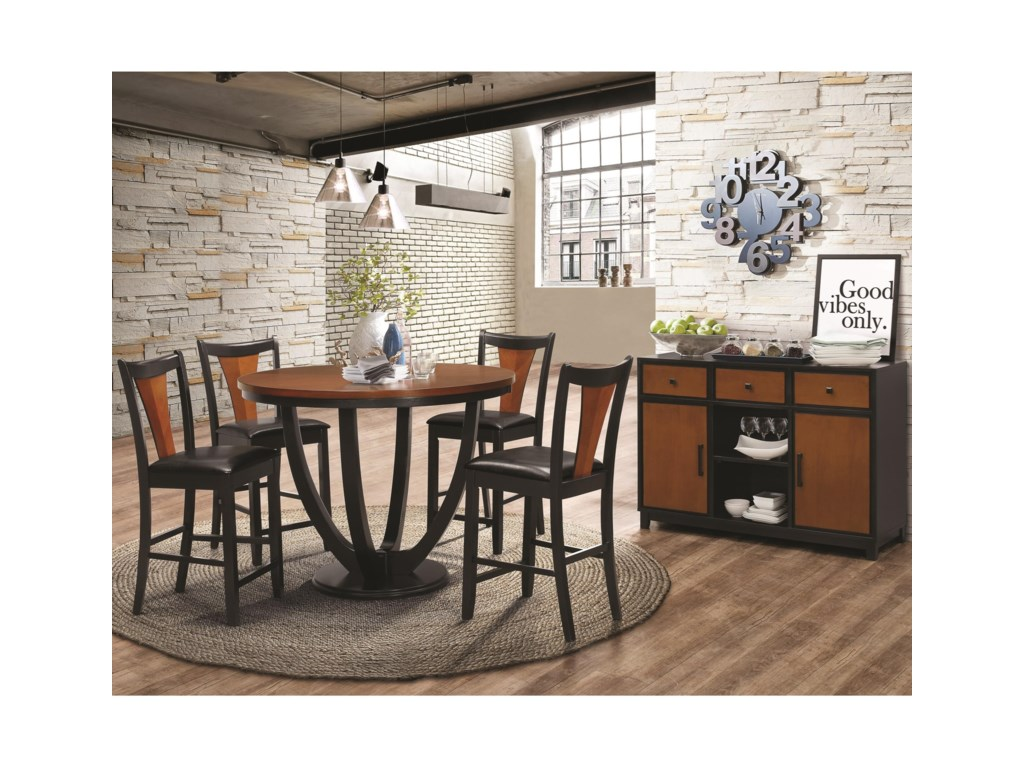Coaster Boyer5 Piece Counter Table and Chair Set