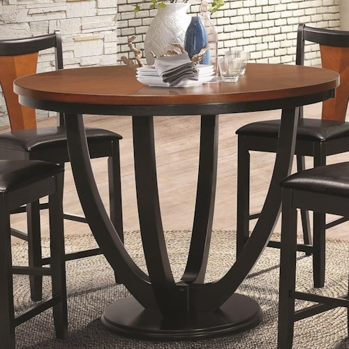 Coaster boyer 102098 counter height table northeast factory direct coaster boyer contemporary counter height table with butterfly top watchthetrailerfo