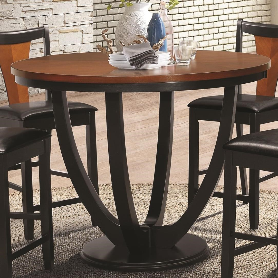 Coaster Boyer Contemporary Counter Height Table With Butterfly Top   Dunk U0026  Bright Furniture   Pub Tables