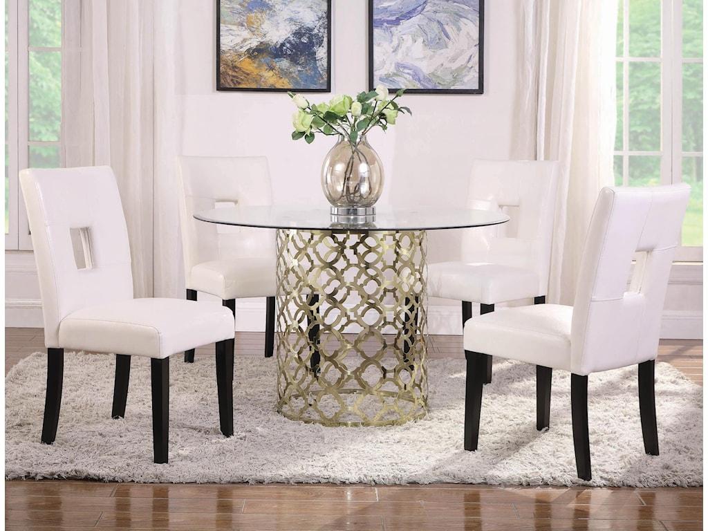 Coaster bradshaw5 piece dining table set