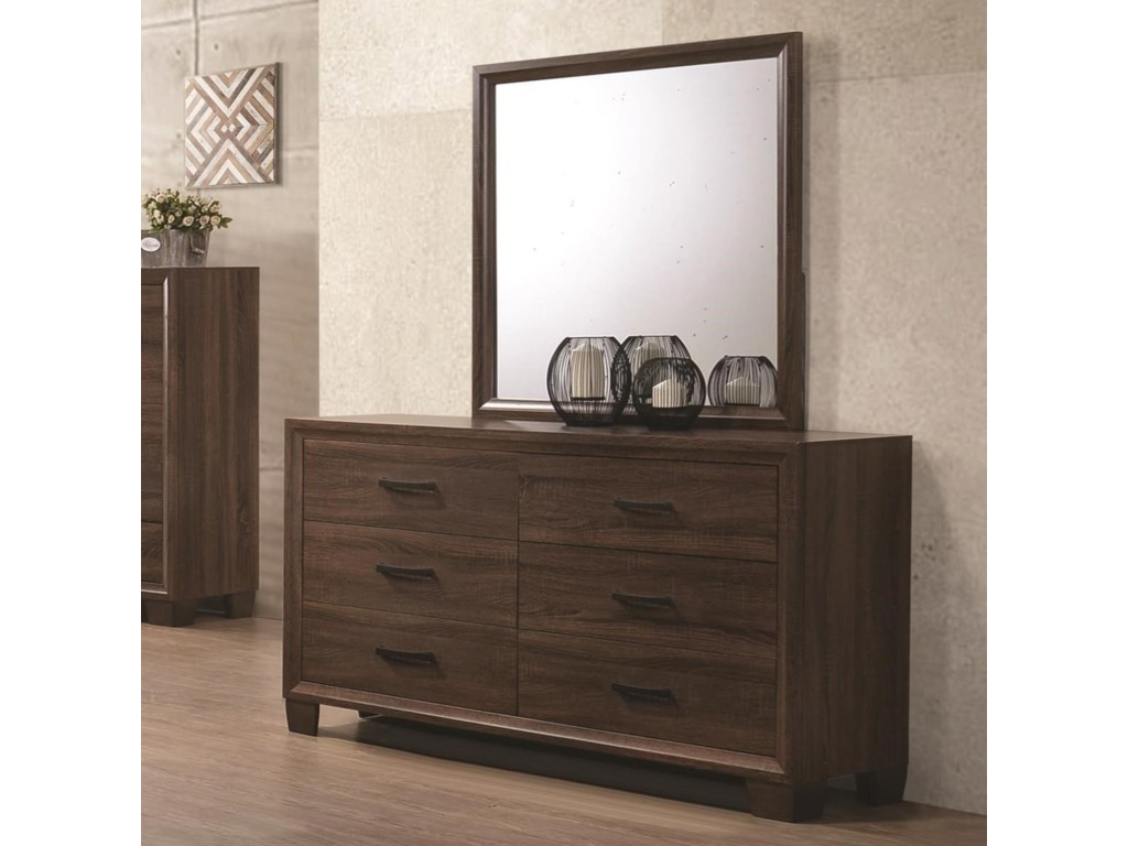 Coaster BrandonDresser and Mirror Set