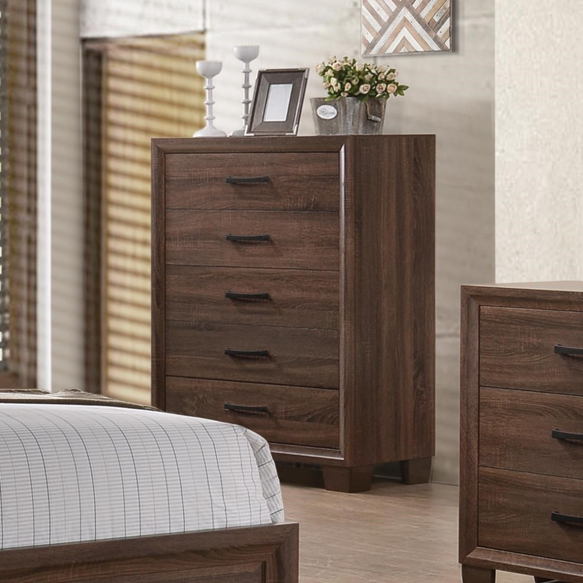 Coaster Brandon Transitional Five Drawer Chest | Value City Furniture |  Drawer Chests
