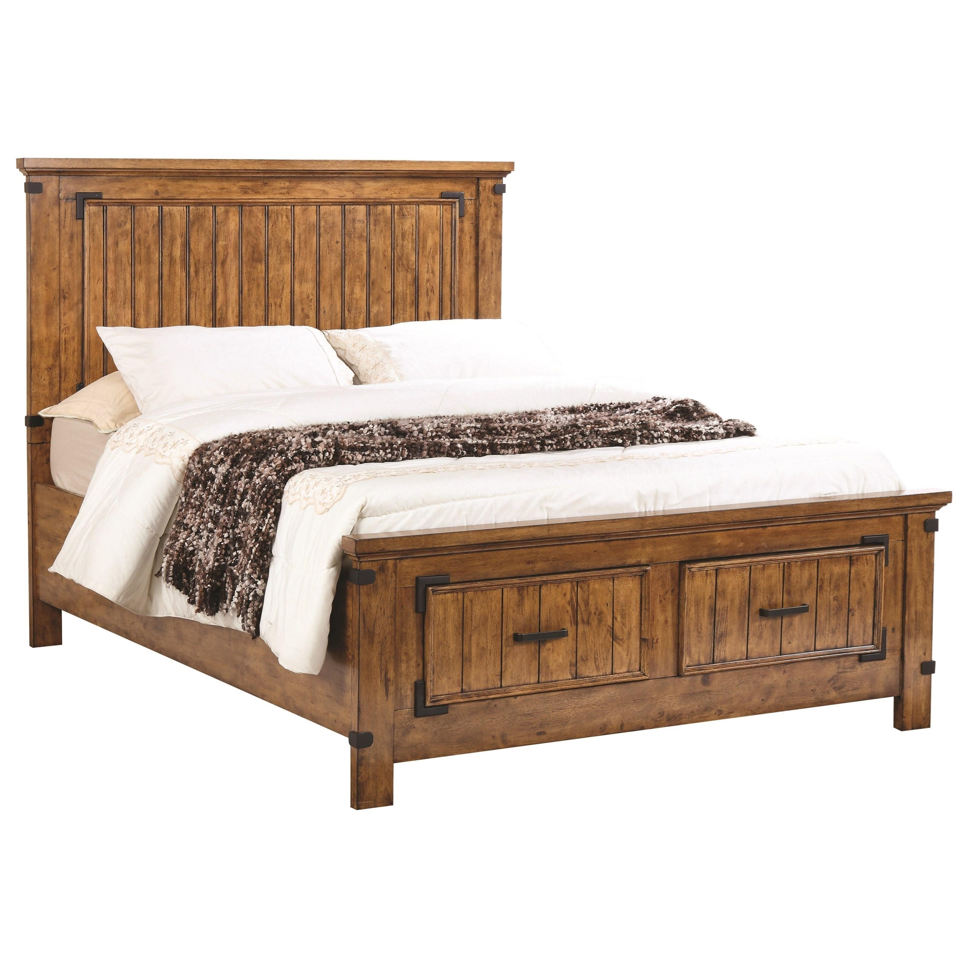 King Storage Bed with Dovetail Drawers