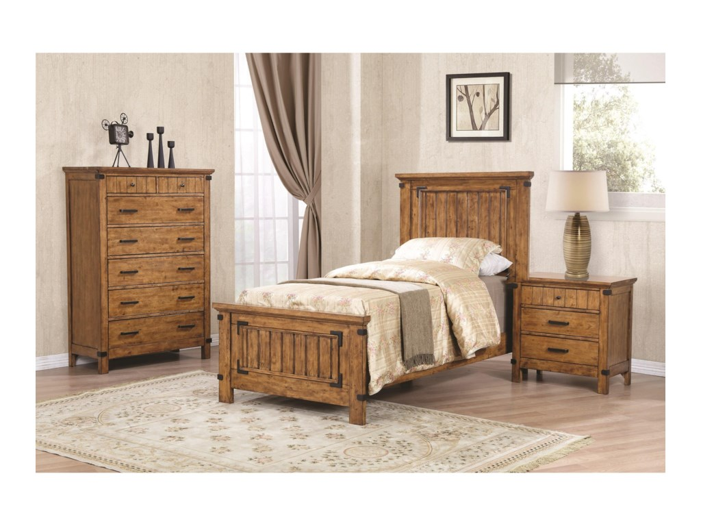 Coaster BrennerTwin Panel Bed