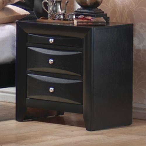 Coaster Briana 2 Drawer Nightstand with Tray