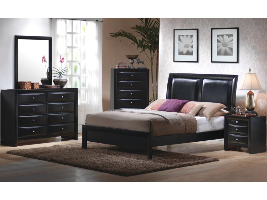 Shown in Room Setting with Mirror, Chest, Bed, and Nightstand
