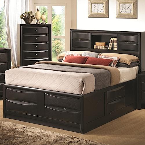 Coaster Briana California King Contemporary Storage Bed with Bookshelf