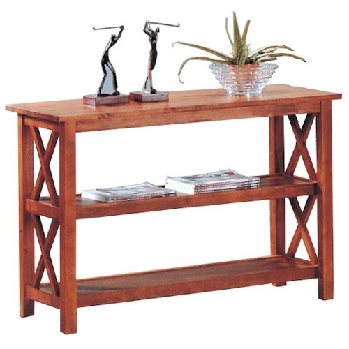 Coaster Briarcliff Casual Sofa Table with 2 Shelves