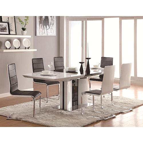 Archibald 7 Piece White Dining Set: 7 Piece White Dining Set