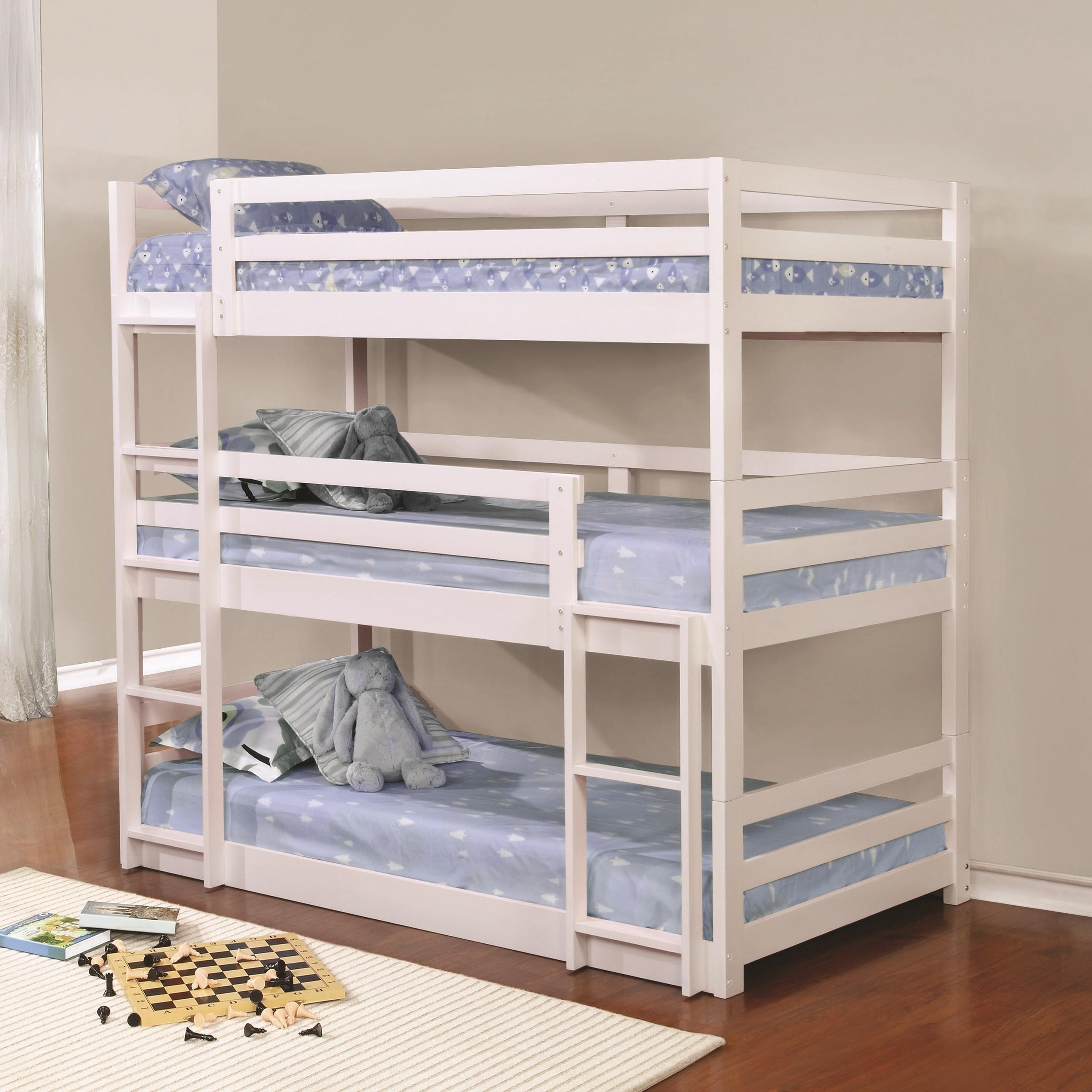 Coaster Bunks Triple Layer Bunk Bed