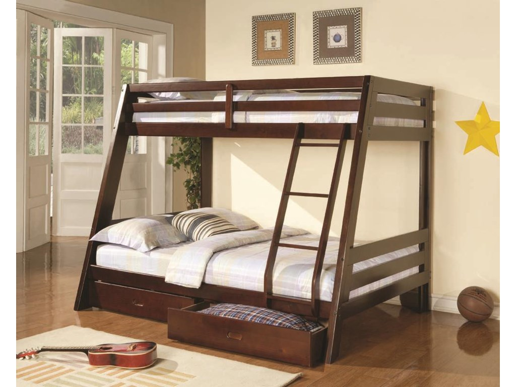 Coaster BunksTwin-over-Full Bunk Bed