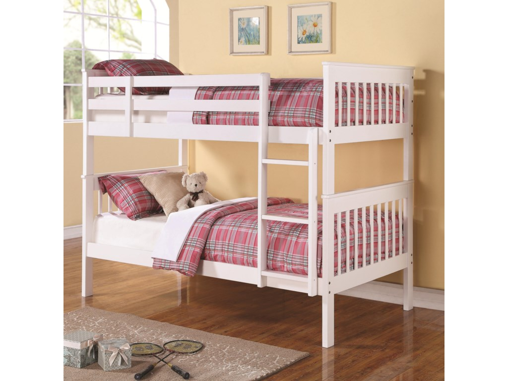 Coaster Bunkstwin Over Twin Bunk Bed
