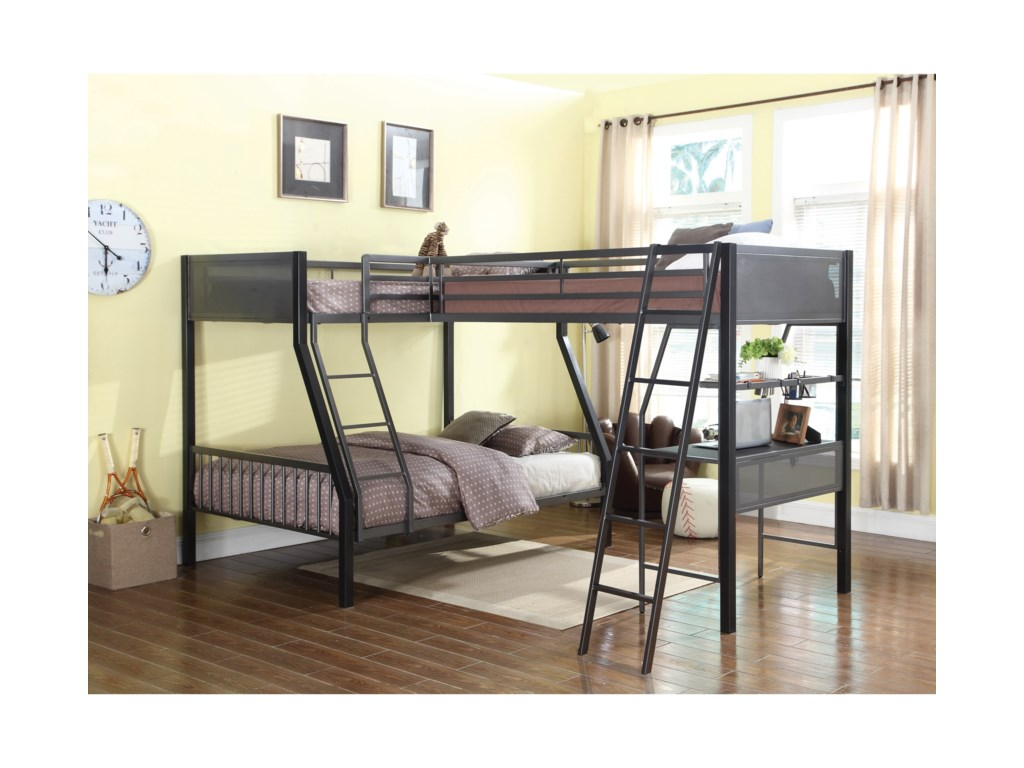 Coaster Bunkstwin Over Full Bunk Bed With Loft