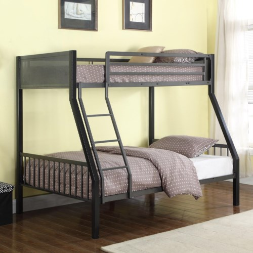 Coaster Bunks Metal Twin Over Full Loft Bunk Bed A1 Furniture