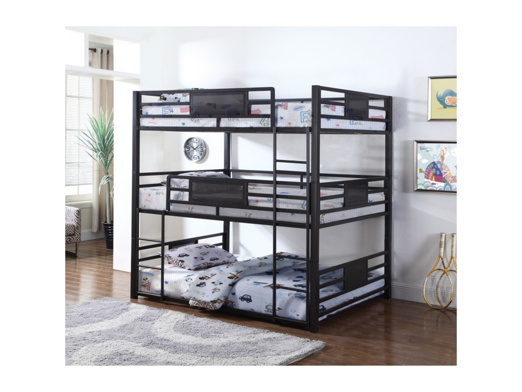 Coaster BunksFull Triple Bunk