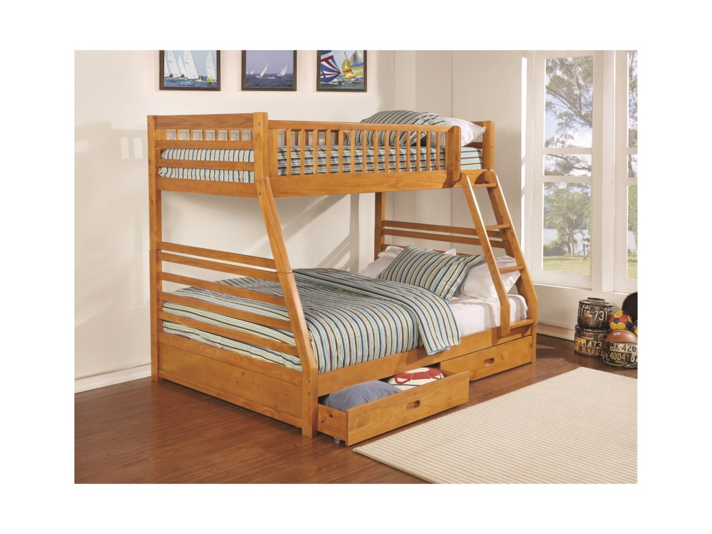Coaster BunksTwin over Full Bunk Bed