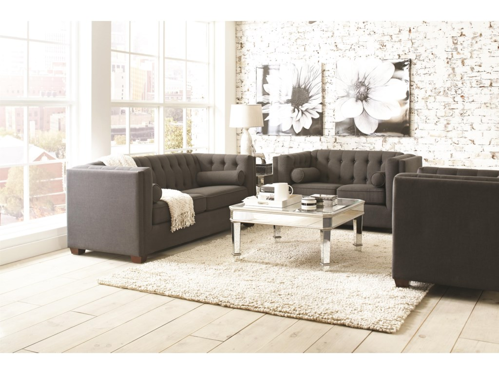 Coaster Cairns Stationary Living Room Group | Value City Furniture ...