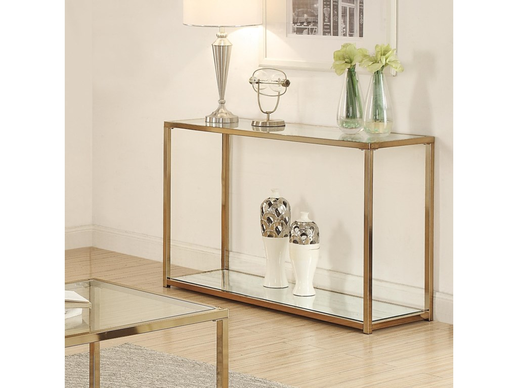 Coaster calantha sofa table with mirror shelf dunk bright coaster calantha sofa table with mirror shelf dunk bright furniture sofa tablesconsoles geotapseo Images
