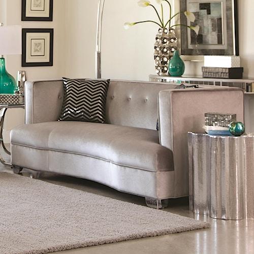 Coaster Carone Contemporary Glam Dining Room Set With: Coaster Caldwell Loveseat With Contemporary Style