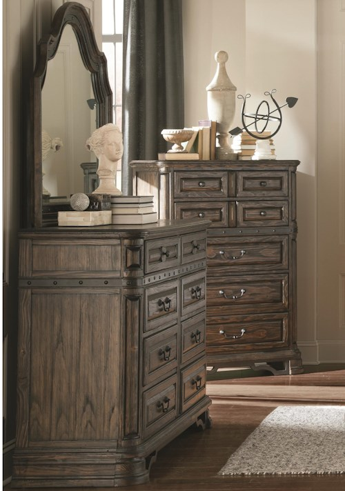 Coaster Carlsbad Dresser and Mirror Set with 8 Drawers
