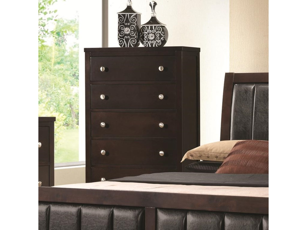 Coaster Carlton 202095 Chest of Drawers with 5 Drawers | Corner ...