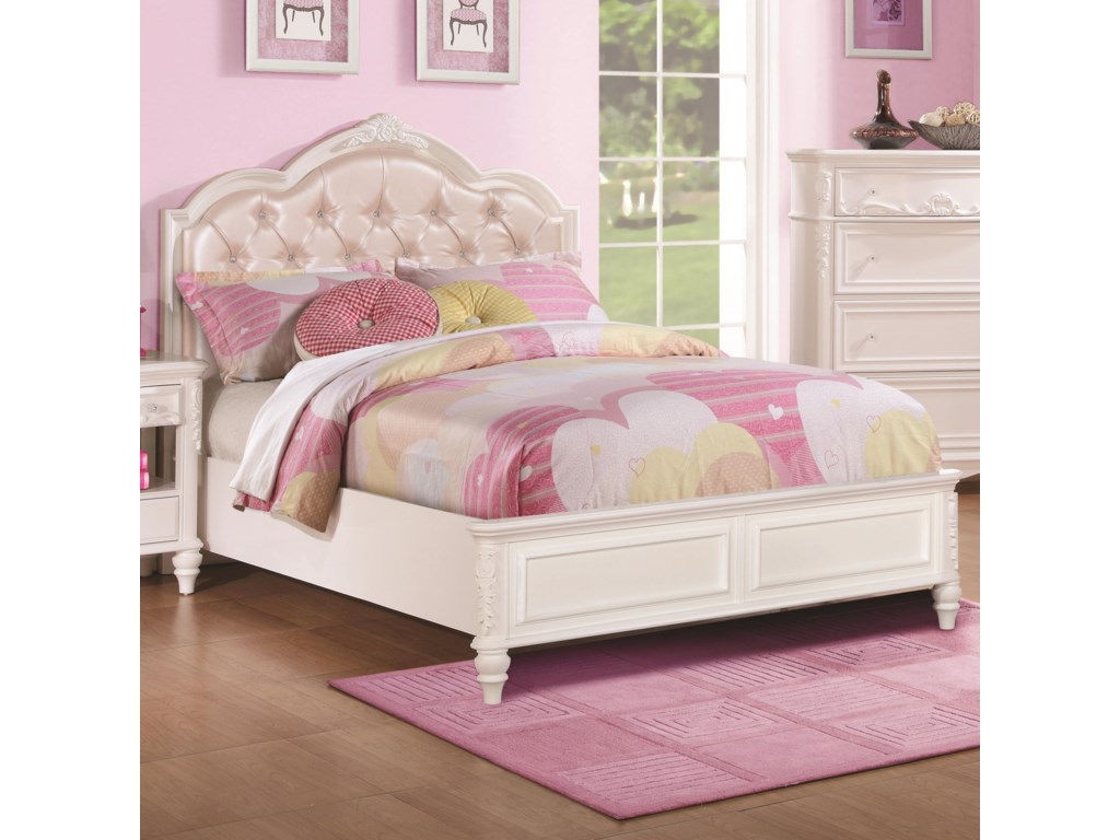 Coaster Caroline 400720f Full Size Bed With Diamond Tufted Headboard