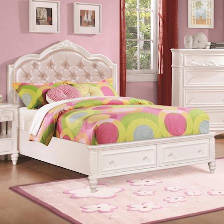 Twin Size Storage Bed