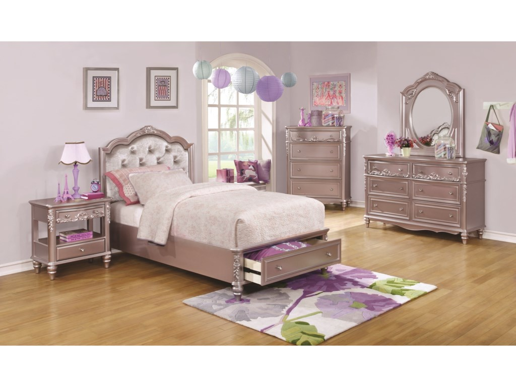 Coaster CarolineTwin Storage Bedroom Group