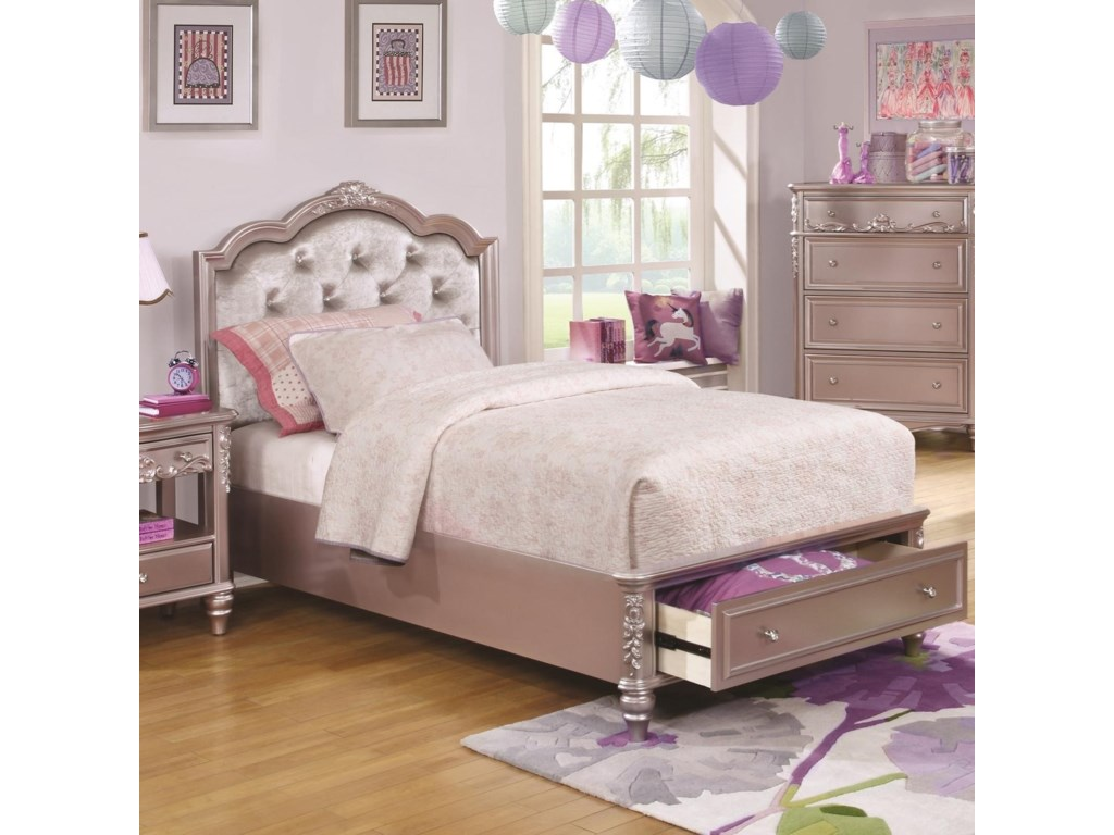 Coaster CarolineTwin Size Storage Bed