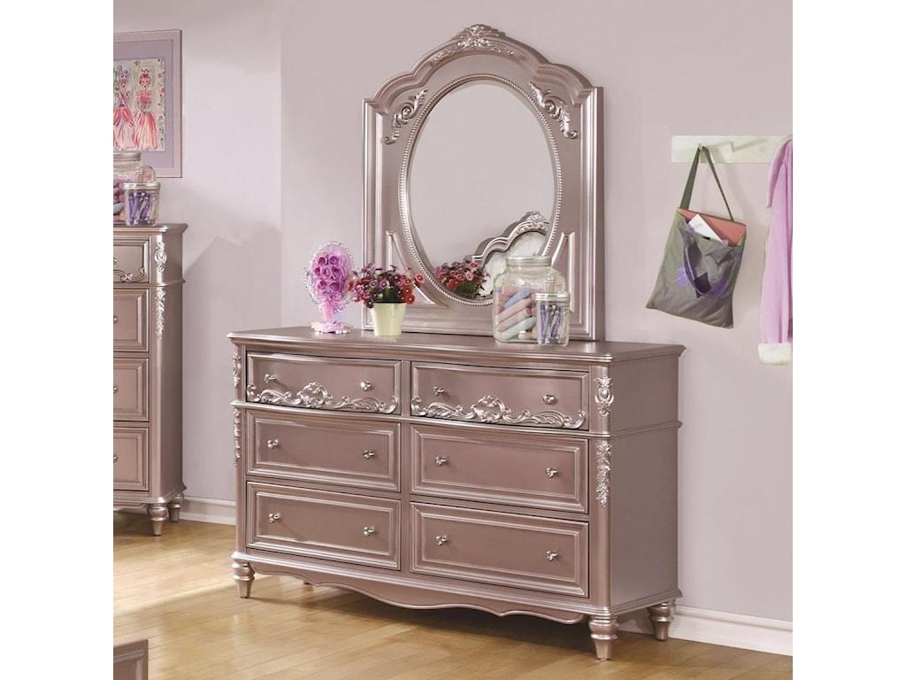 Coaster CarolineDresser and Mirror Set