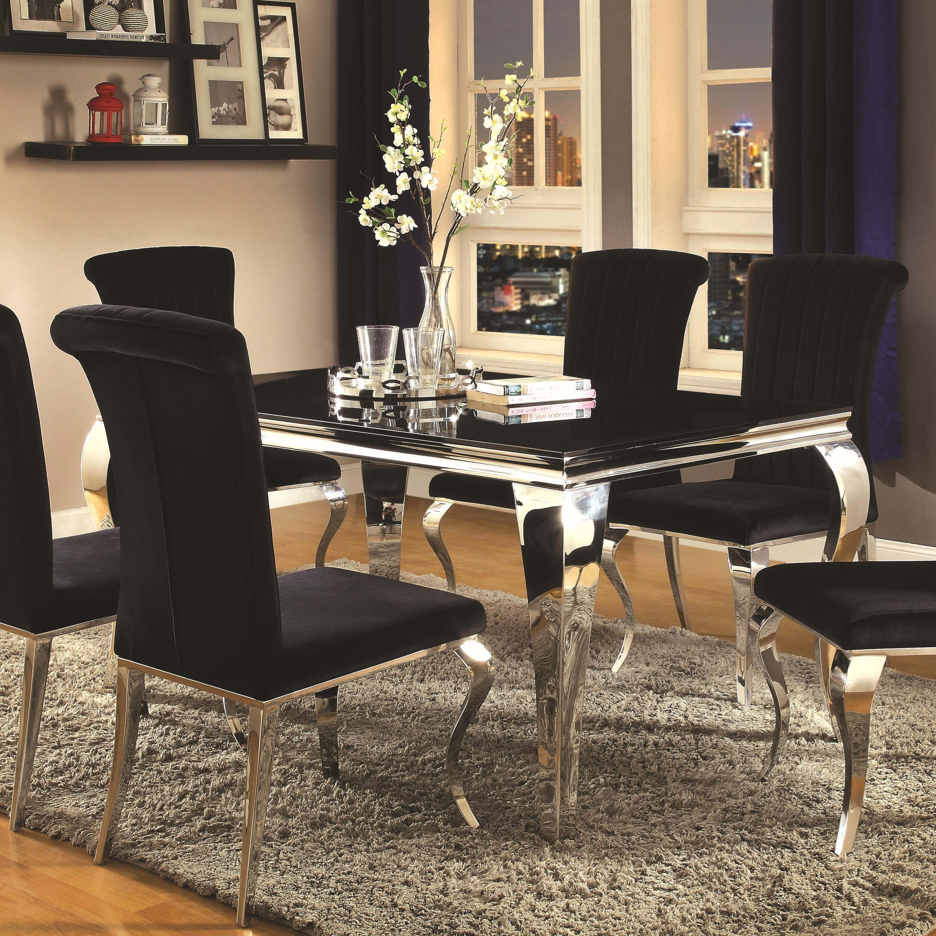 coaster carone rectangular dining table