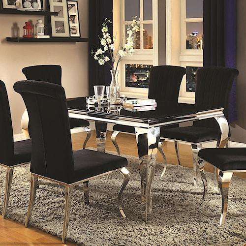 Coaster Carone Contemporary Rectangular Dining Table