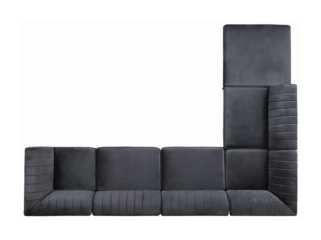 Coaster CassandraSectional with Storage Ottoman