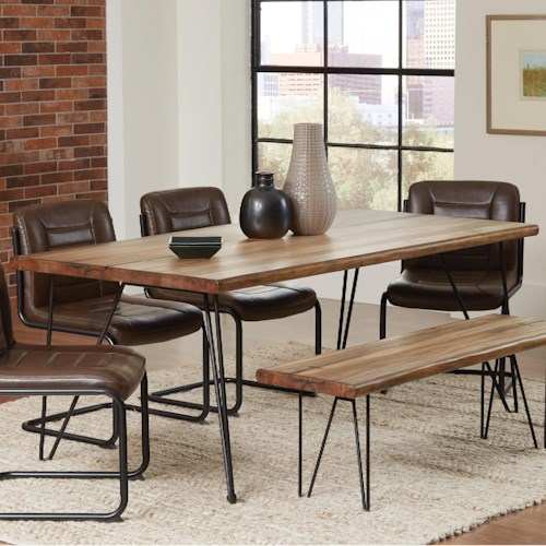 Coaster Chambler Dining Table With Hairpin Legs And Live Edge