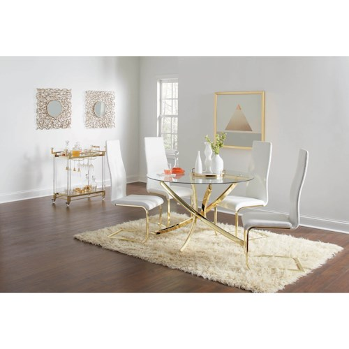 Coaster Chanel Casual Dining Room Group