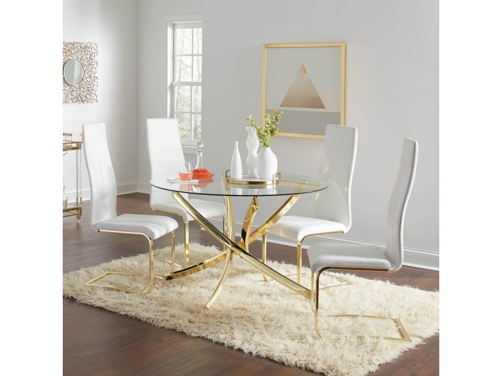 Coaster Chanel5-Piece Dining Set