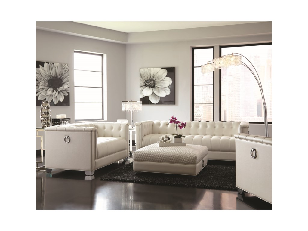 Coaster Chaviano Chic Living Room Group | Dunk & Bright Furniture ...