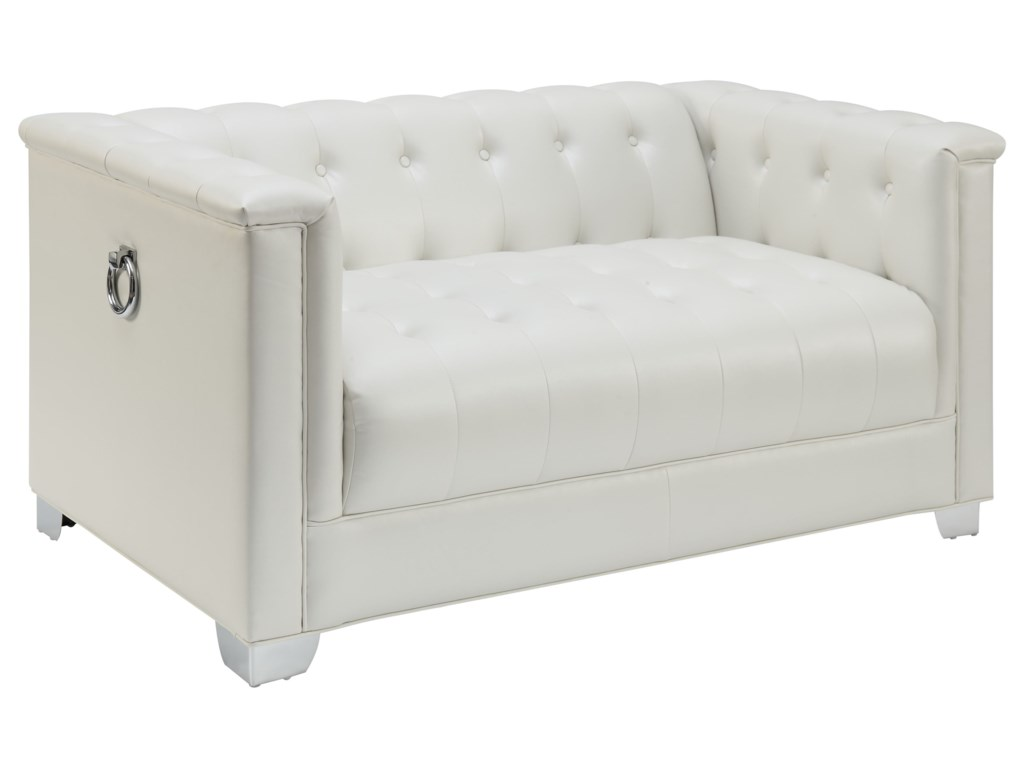 tufted furniture at sale regency loveseat l f loveseats for hollywood column sparkling sofa seating id